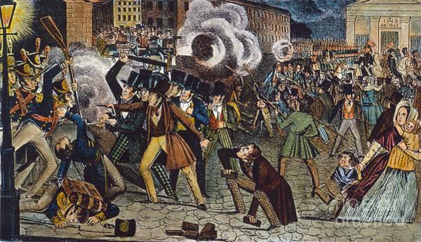 Militiaman Photograph - Anti-catholic Mob, 1844 by Granger
