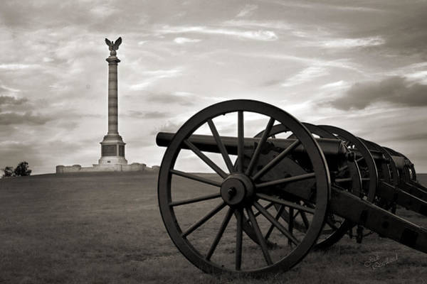Wall Art - Photograph - Antietam Cannon And New York Monument by Judi Quelland