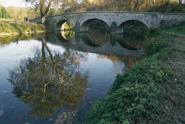 Burnside Bridge Photograph - Antietam Creek Reflects The Arches by Stephen St. John