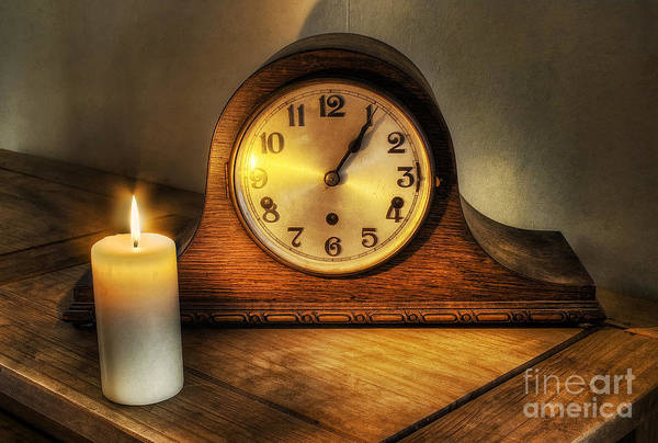 Photograph - Antique Chiming Clock by Ian Mitchell