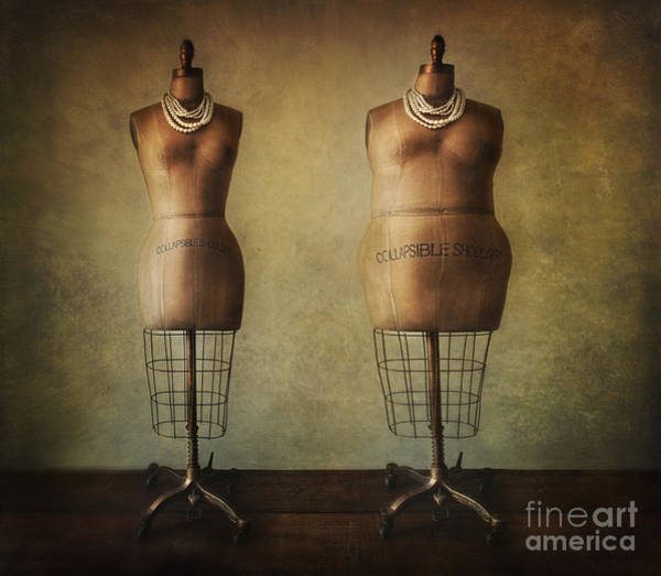 Photograph - Antique Dress Forms Before And After by Sandra Cunningham