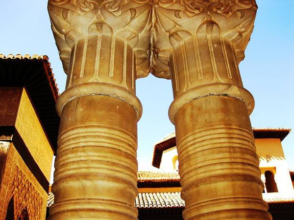 Photograph - Antique Elegant Columns IIi Granada Spain by John Shiron
