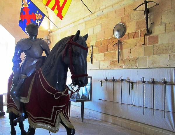 Photograph - Antique Horse And Knight Rider At Segovia Castle In Spain by John Shiron