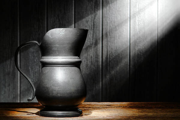 Diffuse Photograph - Antique Pewter Pitcher by Olivier Le Queinec