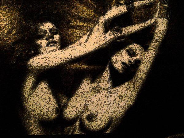 Wall Art - Mixed Media - Anxiety by Noredin Morgan