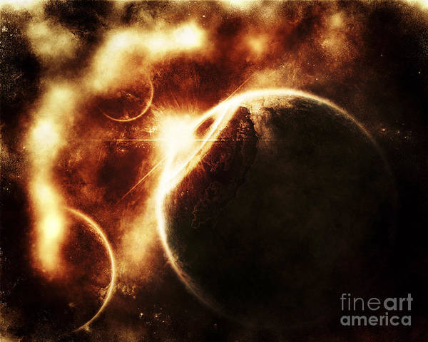 Digital Art - Apocalyptic View Of A Solar System by Tomasz Dabrowski