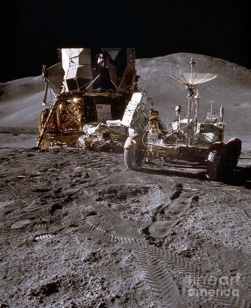 Photograph - Apollo 15 Lunar Roving Vehicle by Nasa