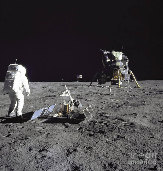 Photograph - Apollo 17 Moonwalk by Stocktrek Images