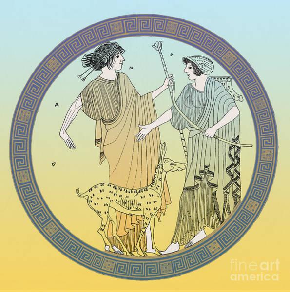 Artemis Photograph - Apollo And Artemis by Photo Researchers