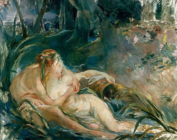 Artemis Wall Art - Painting - Apollo Appearing To Latone by Berthe Morisot