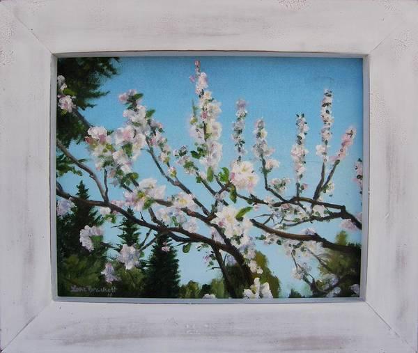 Painting - Apple Blossoms Framed by Lori Brackett