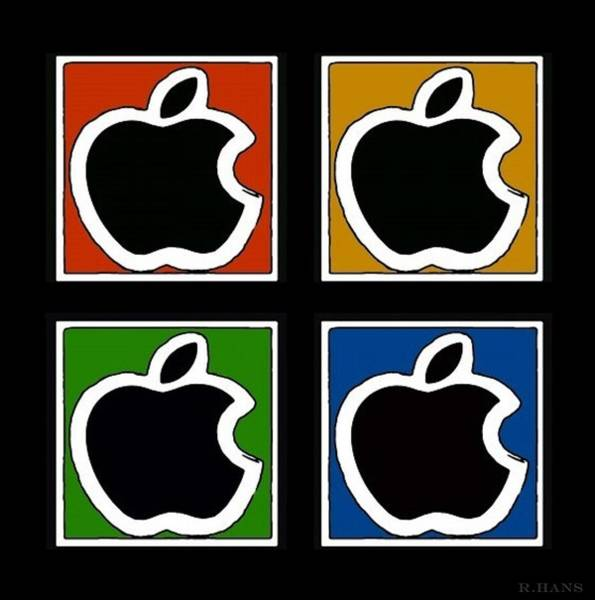 The Mac Wall Art - Photograph - Apple Colors by Rob Hans