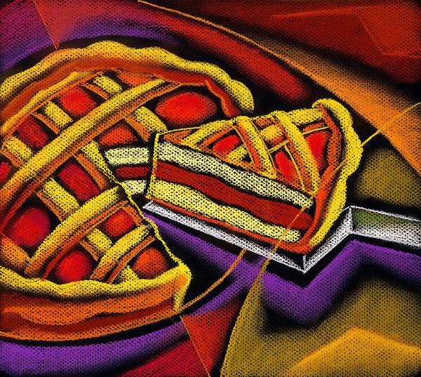 Pastries Painting - Apple Pie by Leon Zernitsky