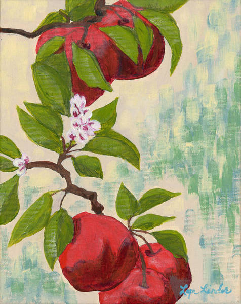 Wall Art - Painting - Apples by Lyn Linder
