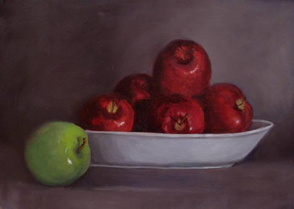 Painting - Apples -still Life by Asha Sudhaker Shenoy