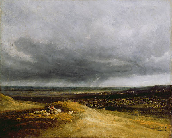 Moorland Wall Art - Painting - Approaching Storm by Georges Michael