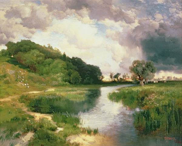 Approach Wall Art - Painting - Approaching Storm by Thomas Moran