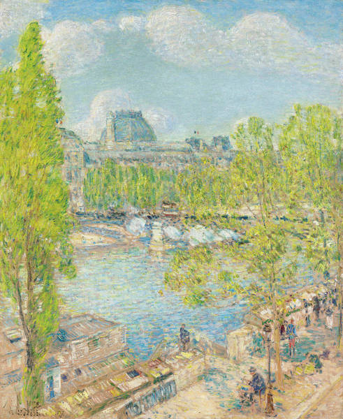 1897 Painting - April On The Quai Voltaire In Paris by Childe Hassam