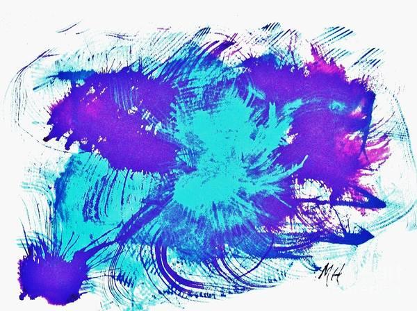 Twirl Painting - Aqua Twirls by Marsha Heiken