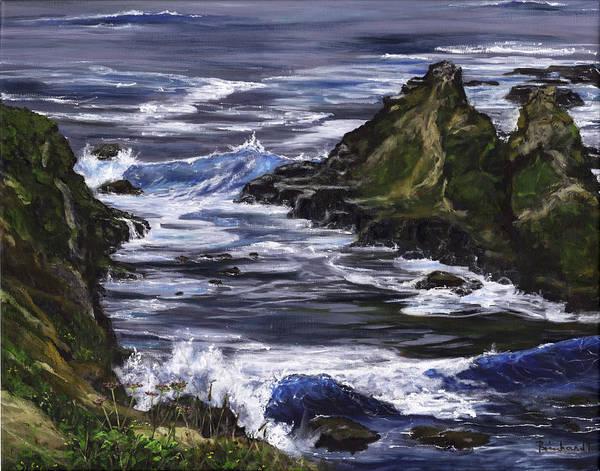 Wall Art - Painting - Aquamarines by Lisa Reinhardt