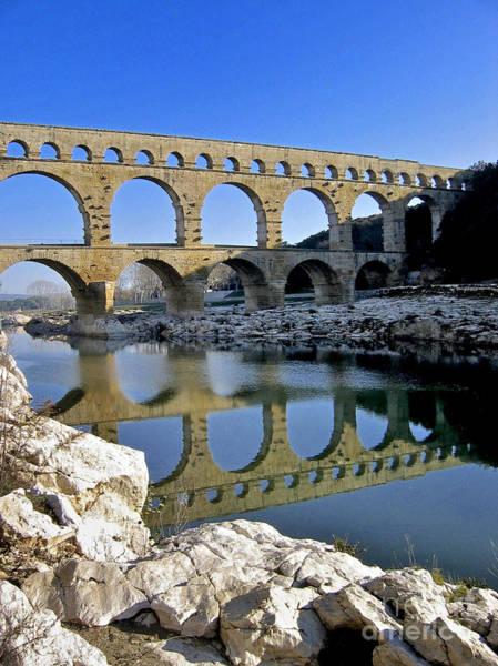 Wall Art - Photograph - Aqueduc Du Pont Du Gard.provence by Bernard Jaubert