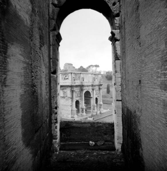 Photograph - Arch Of Constantine Seen From The Colosseum by Emanuel Tanjala