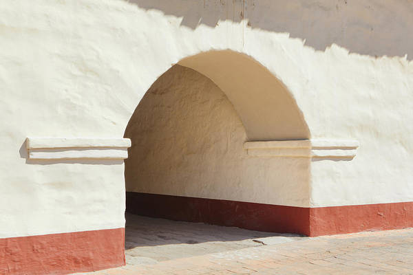 La Purisima Mission Photograph - Arched Tunnel Doorway In Adobe Mission by Douglas Orton