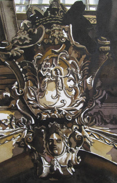 Painting - Architectual Details by Alfred Ng