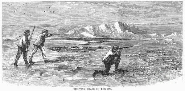Melville Photograph - Arctic: Bear Hunting, 1871 by Granger