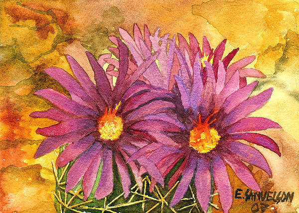 Painting - Arizona Pincushion  by Eric Samuelson