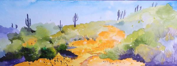 Elwood Blues Painting - Arizona Springtime by Jann Elwood