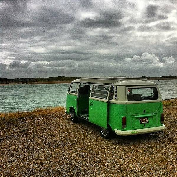 Vw Kombi Photograph - Arnie And The Stormy Looking Sky by Jimmy Lindsay