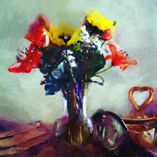 Painting - Arrangement Romantica by RC DeWinter