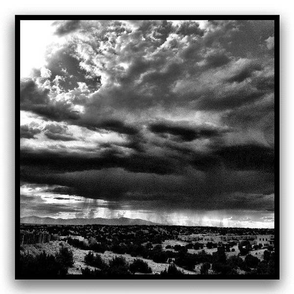 Monochrome Photograph - Arroyo Behind My House by Paul Cutright