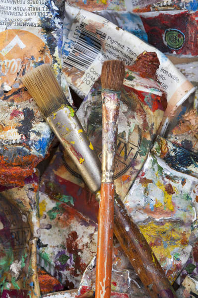 Painter Photograph - Art Is Messy 3 by Carol Leigh