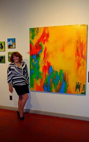 Painting - Art Show At '57 Degrees' San Diego by Bebe Brookman