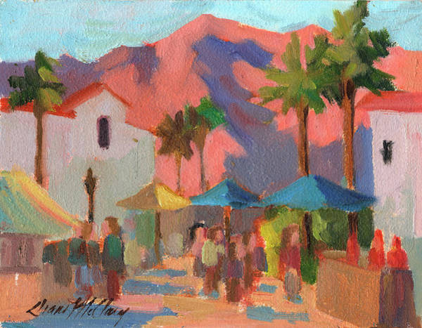 Fair Painting - Art Under The Umbrellas by Diane McClary