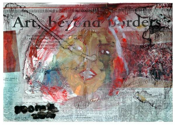 Art Without Boundaries Art Beyond Borders.. Art Print by Rooma Mehra