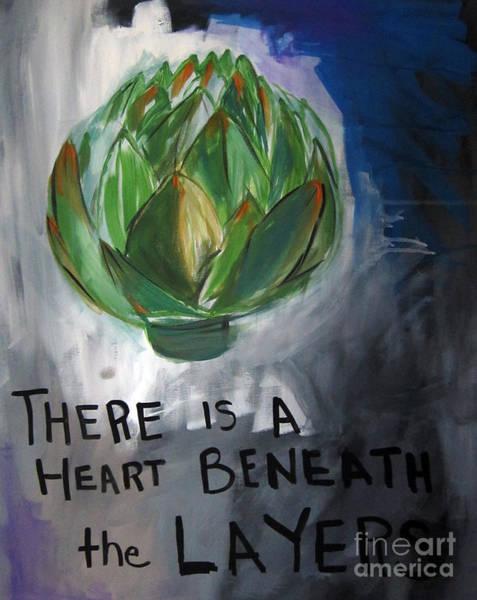 Poetry Wall Art - Painting - Artichoke by Linda Woods