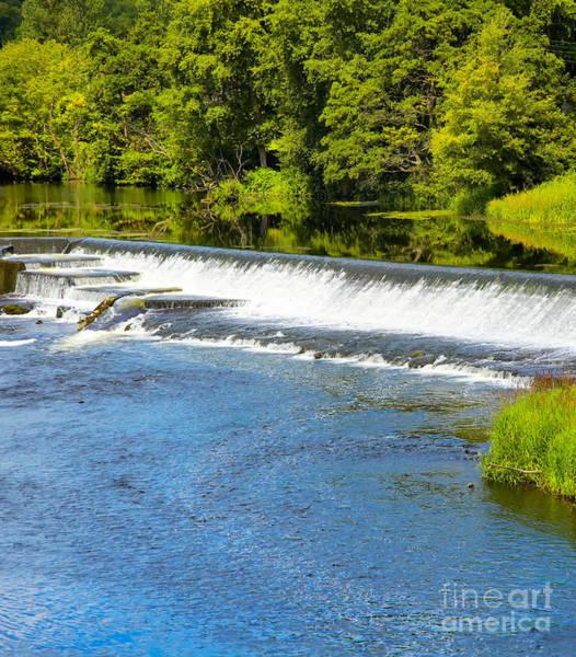 Wall Art - Photograph - Artificial Waterfall On Liffey River by Gabriela Insuratelu
