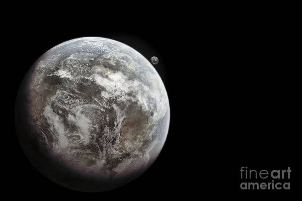 Digital Art - Artists Concept Of Earth As A Lifeless by Tomasz Dabrowski