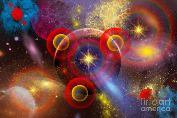 Cosmology Digital Art - Artists Concept Of Planets And Stars by Mark Stevenson