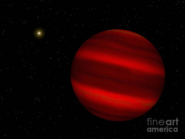 Cosmology Digital Art - Artists Concept Of The Brown Dwarf by Walter Myers