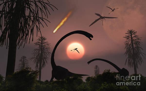 Digital Art - Artists Concept Of The Extinction by Mark Stevenson