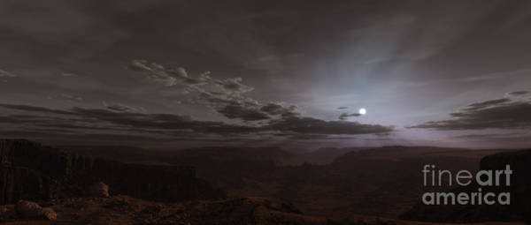 Digital Art - Artists Concept Of The Sun Rising by Frieso Hoevelkamp