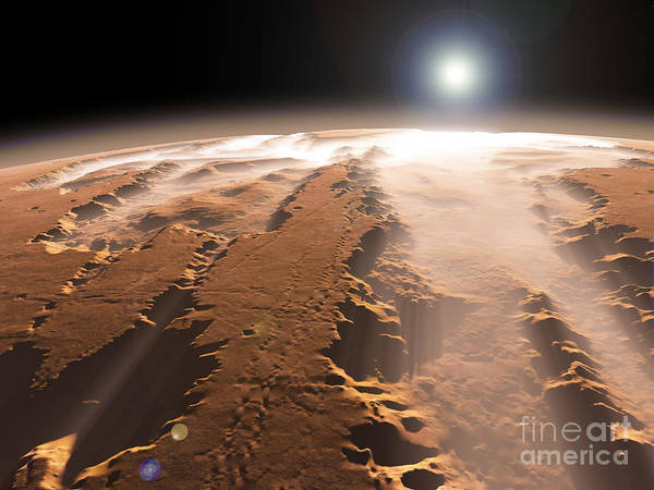 Digital Art - Artists Concept Of The Valles Marineris by Walter Myers