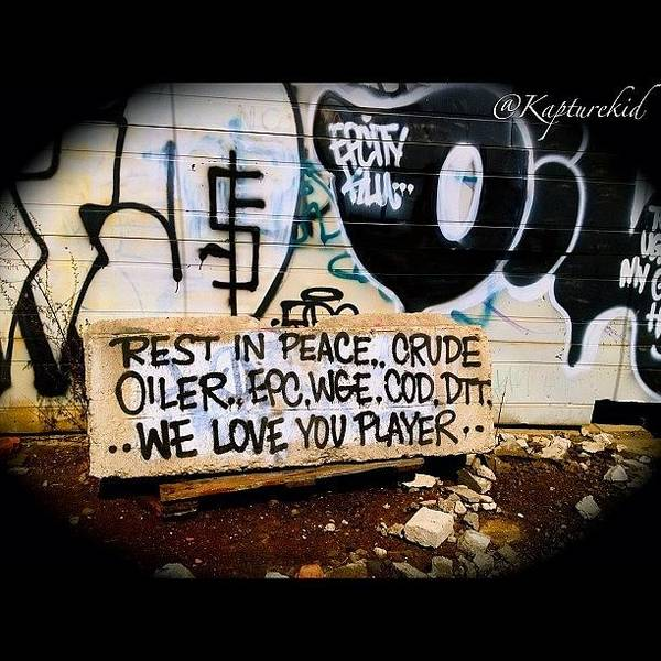 Death Wall Art - Photograph - Artists Never Fade Away #art #graffiti by Anthony  Bates