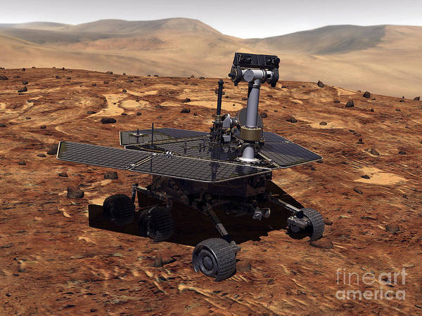 Digital Art - Artists Rendition Of Mars Rover by Stocktrek Images