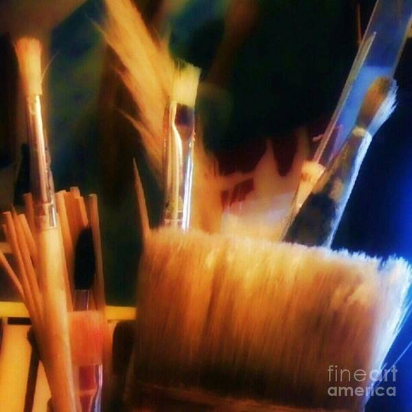 Brush Wall Art - Photograph - Artists Tools by Abbie Shores