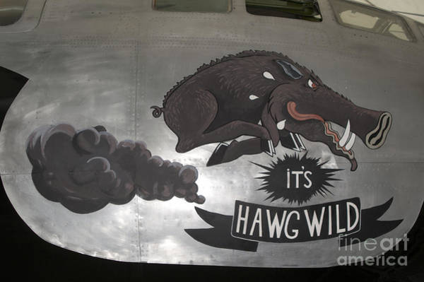 Superfortress Photograph - Artwork Painted On The Side Of A B-29 by Ramon Van Opdorp